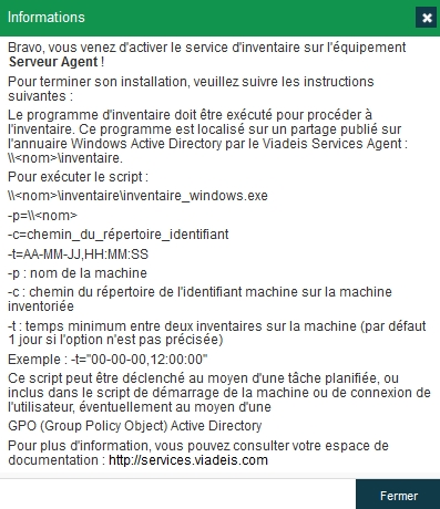 Inventaire - Activation mode agent
