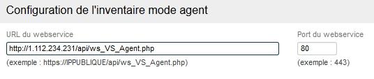 Inventaire - Configuration mode agent