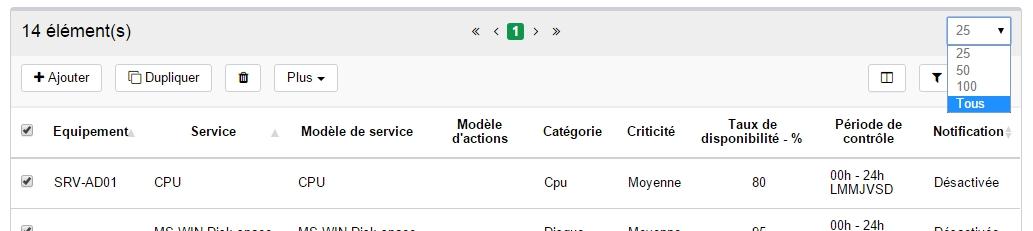 ServiceNav - Astuce - afficher tous les services unitaires sur une seule page