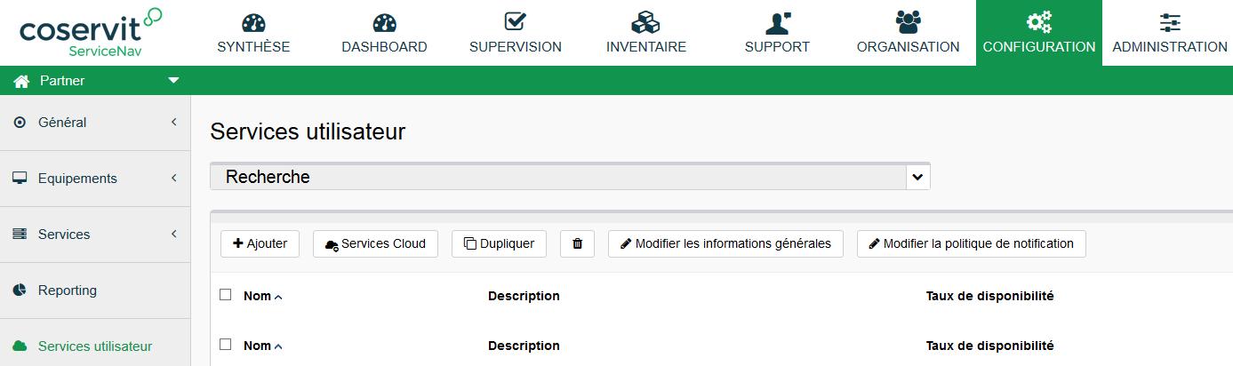 ServiceNav-Configuration-Service-Ajout-SUT
