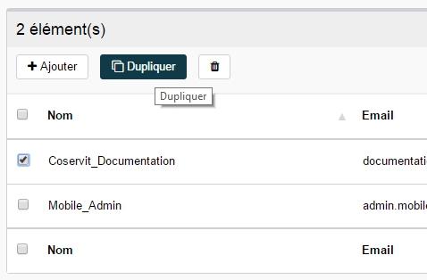 ServiceNav - Contact - Dupliquer