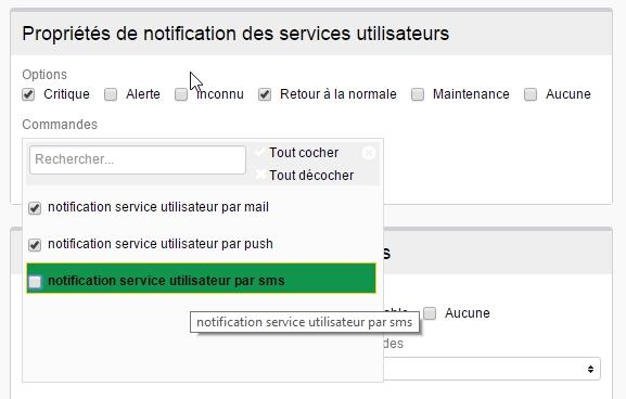 ServiceNav - Contact - Types de notifications pour les services utilisateurs