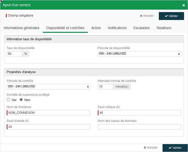ServiceNav - MS SQL database monitoring
