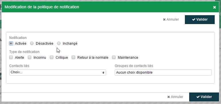 ServiceNav - Services utilisateurs - Pop-up de modification de la politique de notification en masse