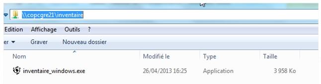 Inventaire - Partage Windows