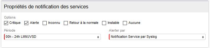 Syslog notification des services